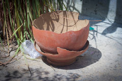 Broken Earthen Pot . royalty free stock photography