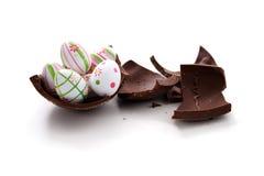 Broken Easter egg Stock Photos