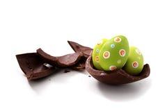 Broken Easter egg Stock Images