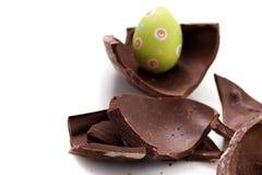 Broken Easter egg in pieces royalty free stock photos