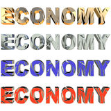 Broken economy in four collors. Broken economy  in four colors on white background Royalty Free Stock Photos
