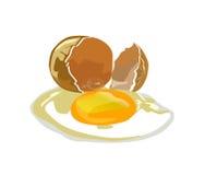 Broken egg. A broken egg shell with a vector Royalty Free Stock Photos