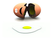 Broken Egg 45. A image of a broken egg this image could be used for images relating to Easter and food Stock Image