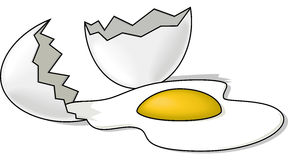 Broken Egg royalty free illustration