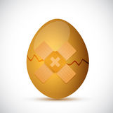 Broken egg and band aid illustration design Royalty Free Stock Photography