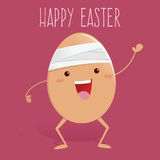 Broken Egg With Bandage Say Happy Easter Royalty Free Stock Photos