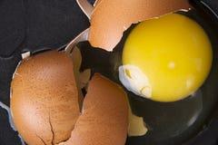 Broken egg, close up Stock Images