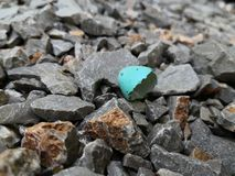 The broken egg on the ground royalty free stock photography