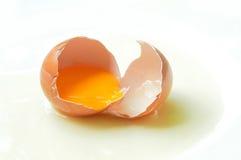 Broken egg. Isolate on white background Stock Images