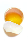 Broken egg isolated Royalty Free Stock Images