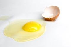 Broken egg isolated on white background Stock Photography