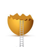 Broken egg and ladder. illustration design Royalty Free Stock Photography