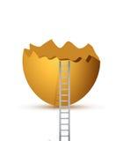 Broken egg and ladder. illustration design Royalty Free Stock Photography