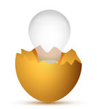 Broken egg the and lamp Stock Image