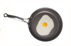 Broken Egg in a Pan Royalty Free Stock Photography