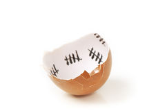 Broken egg shell. Closeup isolated on white background Royalty Free Stock Photo