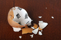 Broken egg shell Stock Photo