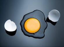 Broken egg shell. On black Stock Images