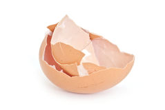 Broken egg shell closeup Royalty Free Stock Photo