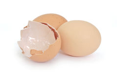 Broken egg shell closeup Royalty Free Stock Images