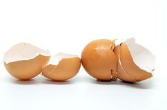 Broken egg shell Stock Photos