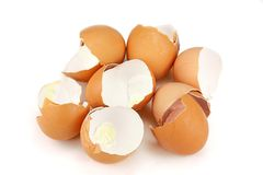 Broken egg shells Royalty Free Stock Photos