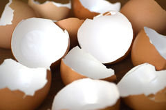 Broken egg shells stock photos