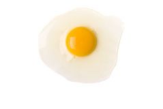 Broken Egg on White Stock Photos