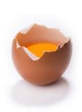 Broken egg on white background Royalty Free Stock Image