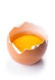 Broken egg on white background Royalty Free Stock Photos