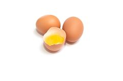 Broken egg and yolk. Royalty Free Stock Image