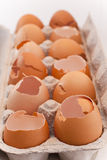 Broken eggs Royalty Free Stock Photos
