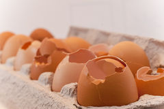 Broken eggs Royalty Free Stock Photography