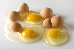 Broken eggs royalty free stock photo