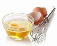 Broken eggs stock image