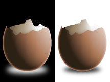 Broken eggshell. Made with photoshop stock illustration