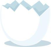 Broken eggshell - vector illustration Royalty Free Stock Image