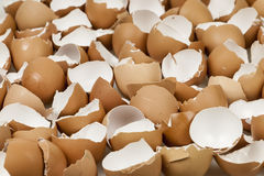 Broken eggshells Royalty Free Stock Photos