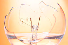 Broken electric lamp Stock Photos