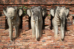 Broken elephant statues Royalty Free Stock Image
