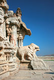 Broken elephant statues of Vittala temple in Hampi Stock Images