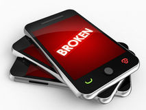 Broken error Mobile Phone Royalty Free Stock Images