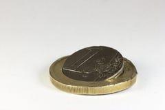 broken euro Royaltyfri Bild
