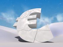 Broken euro Royalty Free Stock Photo