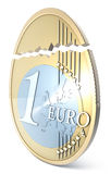 Broken euro eggshaped Royalty Free Stock Photography
