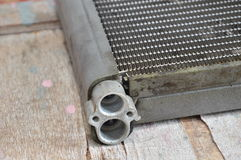 Broken evaporator coil for vehicle. A broken evaporator coil for vehicle Royalty Free Stock Photos