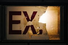 Broken Exit Sign Royalty Free Stock Photography