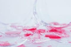 Broken exponeringsglas av wine Royaltyfria Bilder