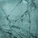 Broken exponeringsglas, bakgrund av det spruckna fönstret med wir Royaltyfri Foto