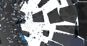 broken exponeringsglas 3d framför stock illustrationer